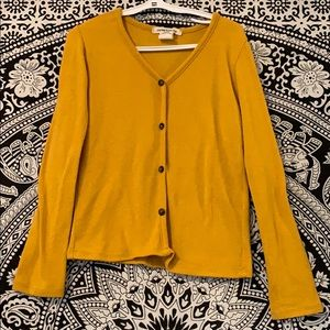 Girls light sweater in mustard colour
